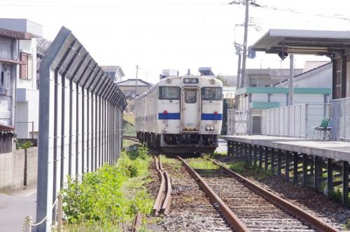 日本最南端の始発駅からの出発をお見送り。