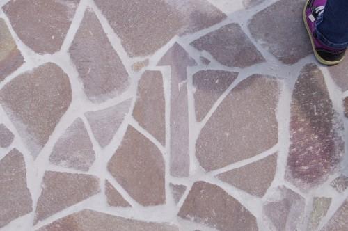 矢印の敷石