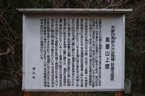 高谷山上陵の説明