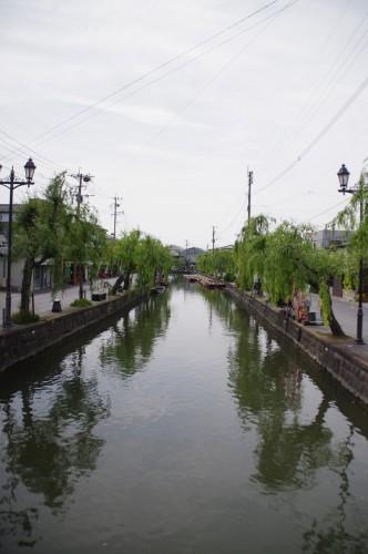 柳川の川は穏やかです。